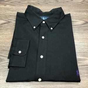 Polo Ralph Lauren Solid Black Shirt XXL 2XLT